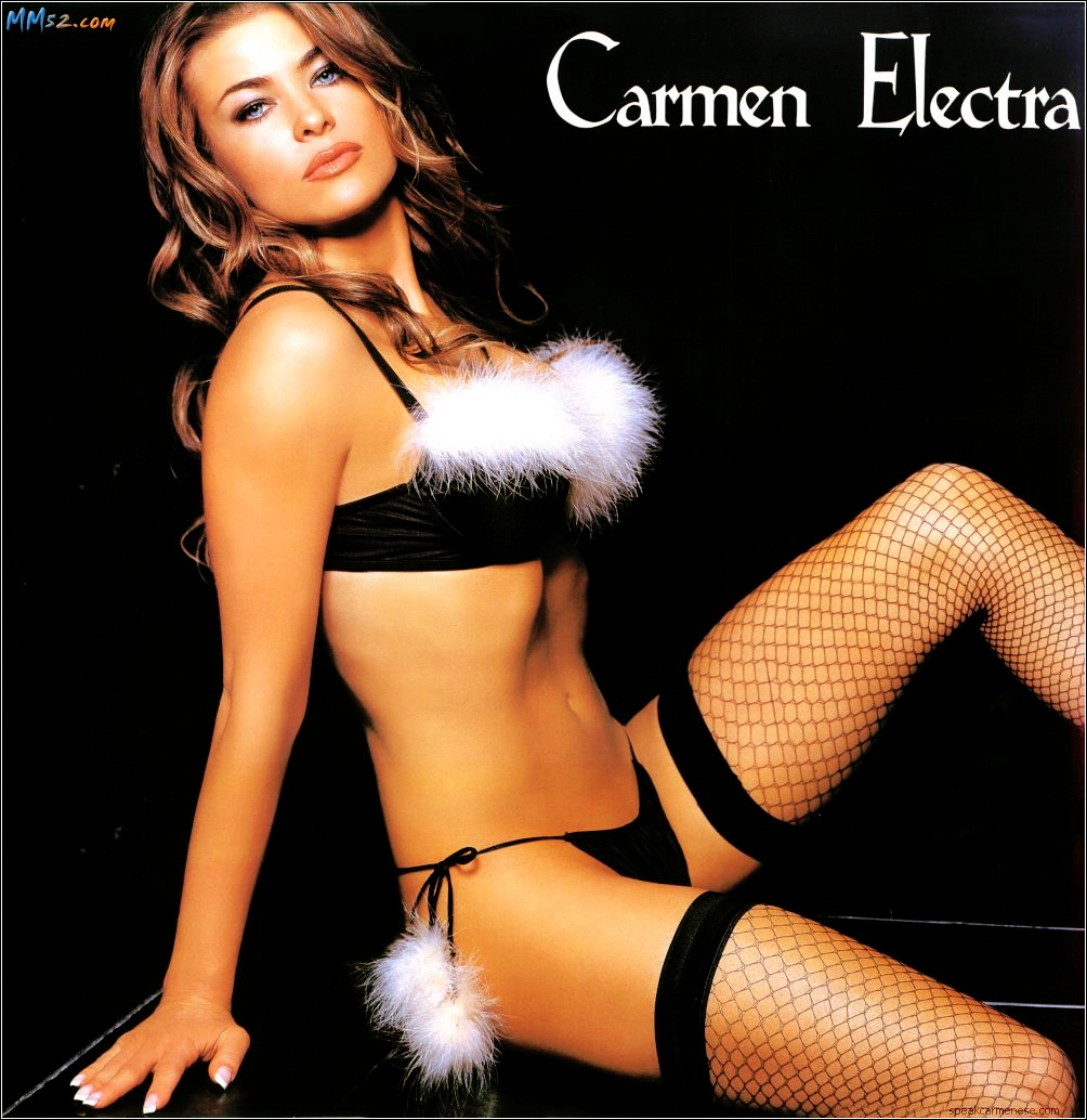 HOT carmen electra in lingerie ass the world