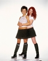 TATU posing together in transparent shimmies