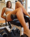 Josie Model showing hot legs at the gym