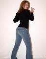 Nikki Nevada wearing blue jeans