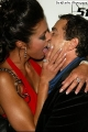 Adrianne Curry on red  carpet kissing