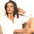 Adrianne Curry in white shirt