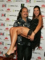 Adrianne Curry with fat guy