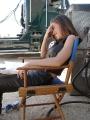 Alyssa Milano sitting