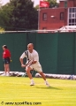 Andre Agassi playing tennis