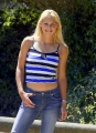 Anna Kournikova in blue shimmy