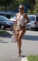 Anna Kournikova arrives home after hard training
