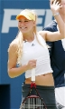 Anna Kournikova on the tennis court