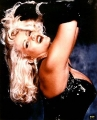 Anna Nicole Smith in black