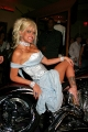 Anna Nicole Smith laying on the Silver Bike