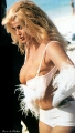 Anna Nicole Smith in white fury lingerie