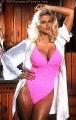 Anna Nicole Smith wearing pink