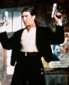 Antonio Banderas with a guns