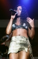 Ashanti singing on concert