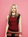 Avril Lavigne in red shimmy