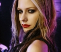 Avril Lavigne with red lips