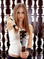 Avril Lavigne with guittar