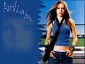 Avril Lavigne wearing blue shimmy