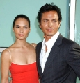 Benjamin Bratt looks sexy with his girlfriend