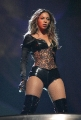 Beyonce Knowles  wearing hot leather dress