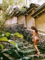 Brooke Burke in chinese garden
