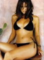 Brooke Burke wearing black bikini