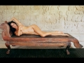 Brooke Burke naked on the bed