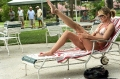 Cameron Diaz sunbathing in bikini showing her sexy legs