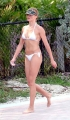 Cameron Diaz walking in white bikini