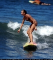 Cameron Diaz while surfing