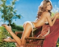 Carmen Electra in the gerden