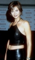 Catherine Bell in black leather
