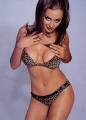 Catherine Bell wearing sexy panthera styled lingerie