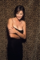 Catherine Bell in black dress
