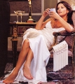 Glamorous Catherine Zeta Jones wearing white dress