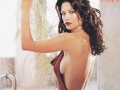 Catherine Zeta Jones posing in a sexy dress