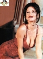 Catherine Zeta Jones in red lingerie