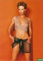 Charlize Theron wearing transparent shimmy