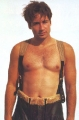 sexy David Duchovny posing shirtless