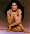 Demi Moore posing naked