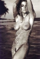 Naked Denise Richards poured with water