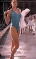 Denise Richards in wet transparent swimming suite