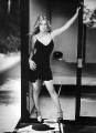 Drew Barrymore in nice black short dress