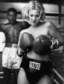 Drew Barrymore as a boxer