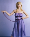 Elisha Cuthbert in sexy violet dress