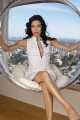 Eva Longoria posing inside big glass ball