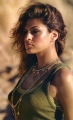 Eva Mendes posing on the desert