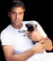 George Clooney posing sexy