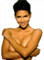 Halle Berry posing topless