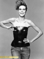 Heidi Klum in leather corset